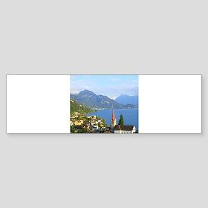 Switzerland Swiss landscape Bumper Sticker