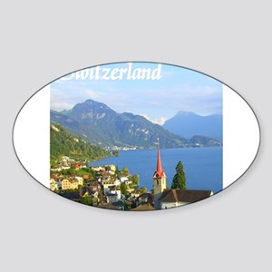 Switzerland view over lake Sticker