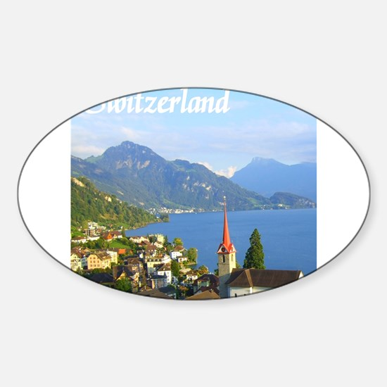 Switzerland view over lake Decal