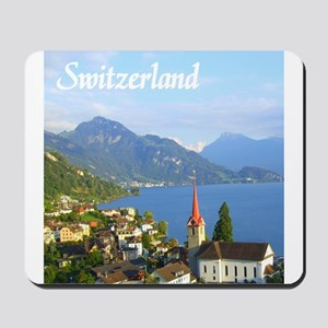 Switzerland view over lake Mousepad