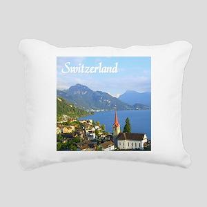 Switzerland view over lake Rectangular Canvas Pill