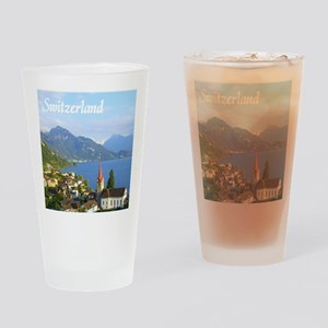 Switzerland view over lake Drinking Glass