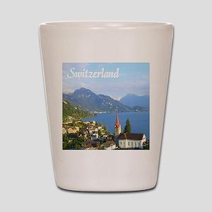Switzerland view over lake Shot Glass