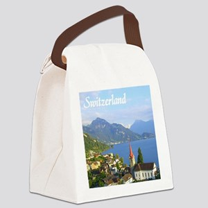 Switzerland view over lake Canvas Lunch Bag