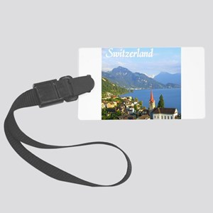 Switzerland view over lake Luggage Tag