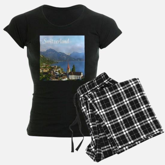 Switzerland view over lake Pajamas