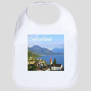 Switzerland view over lake Bib