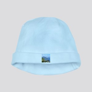 Switzerland view over lake baby hat
