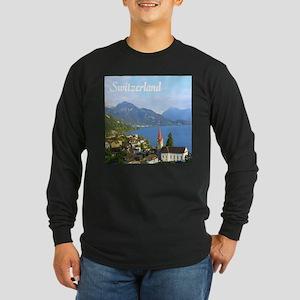 Switzerland view over lake Long Sleeve T-Shirt