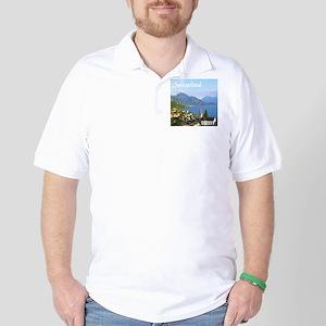 Switzerland view over lake Golf Shirt