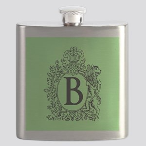 Green Personalized Monogram Flask