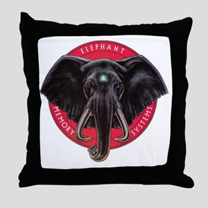 Elephant Memory Systems Throw Pillow