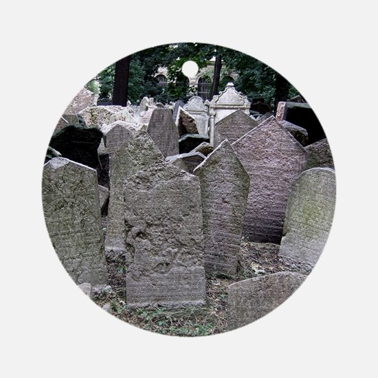 Prague Cemetery Gravestones Ornament (Round)