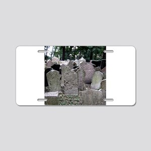 Prague Cemetery Gravestones Aluminum License Plate