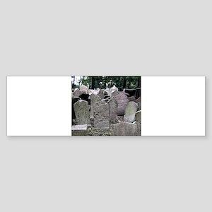 Prague Cemetery Gravestones Bumper Sticker
