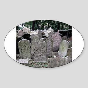 Prague Cemetery Gravestones Sticker