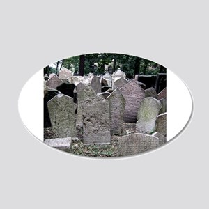 Prague Cemetery Gravestones Wall Decal