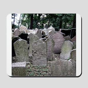 Prague Cemetery Gravestones Mousepad