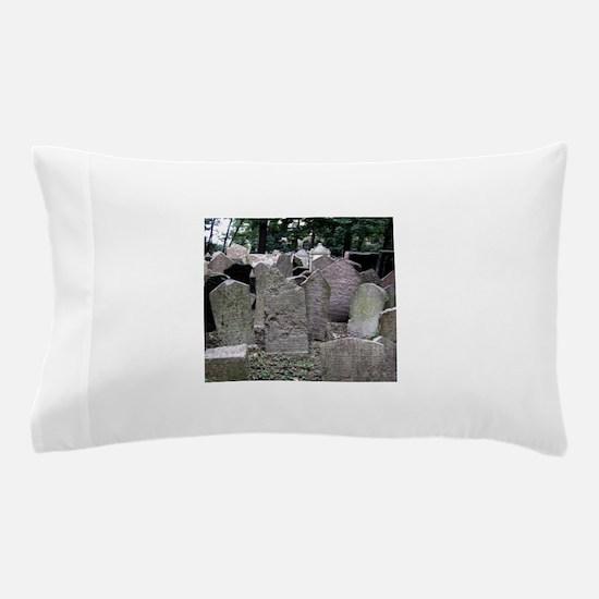 Prague Cemetery Gravestones Pillow Case