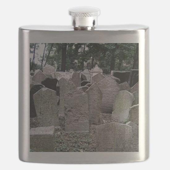 Prague Cemetery Gravestones Flask