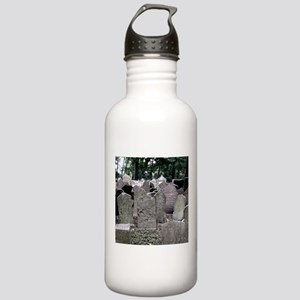 Prague Cemetery Gravestones Water Bottle
