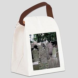 Prague Cemetery Gravestones Canvas Lunch Bag