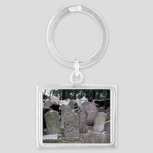 Prague Cemetery Gravestones Keychains