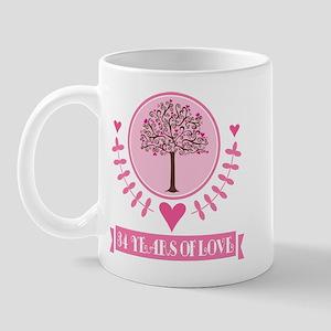 34th Anniversary Love Tree Mug