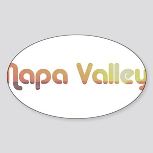 Napa Valley, California Oval Sticker