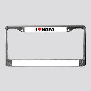 I Love Napa Valley, Californi License Plate Frame