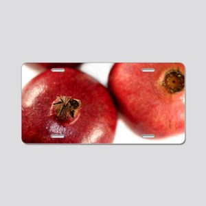 Pomegranate Aluminum License Plate