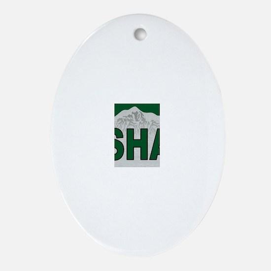 Mt. Shasta Oval Ornament