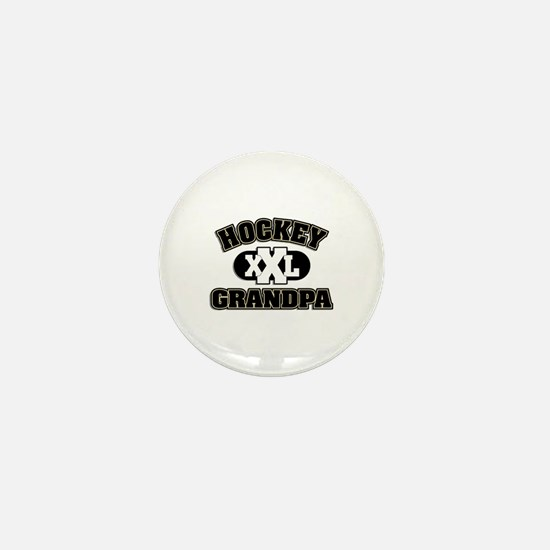 Hockey Grandpa Mini Button