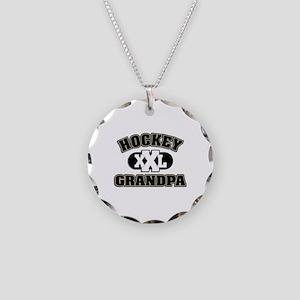 Hockey Grandpa Necklace Circle Charm