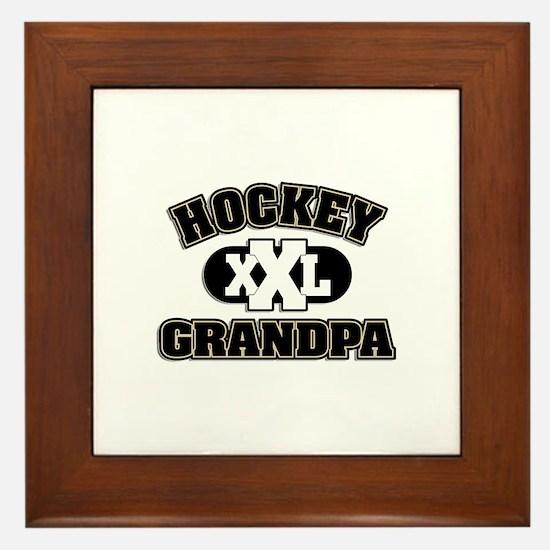 Hockey Grandpa Framed Tile