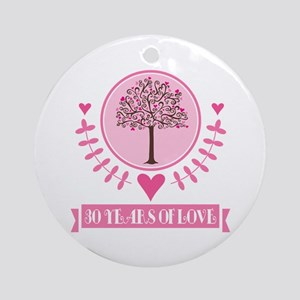 30th Anniversary Love Tree Ornament (Round)