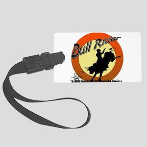 Bull Rider Large Luggage Tag
