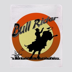Bull Rider Throw Blanket