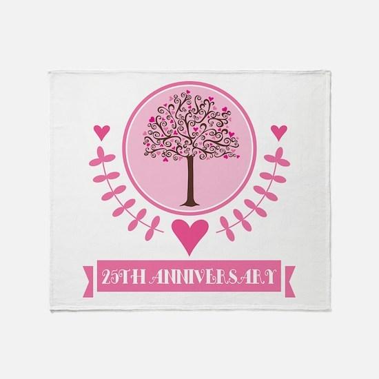 25th Anniversary Love Tree Throw Blanket