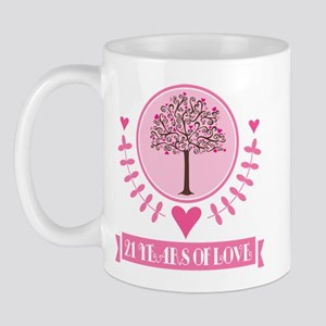 21st Anniversary Love Tree Mug