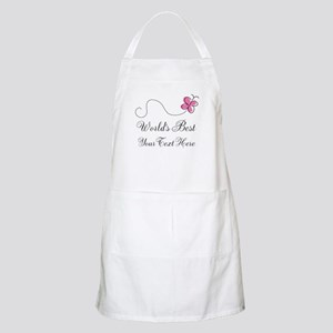 Personalized Worlds Best butterfly design Apron