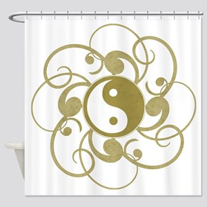 Zen Yin Yang (Gold) Shower Curtain
