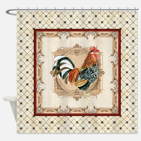 Vintage Rooster Country French Watercolor Cream Sh