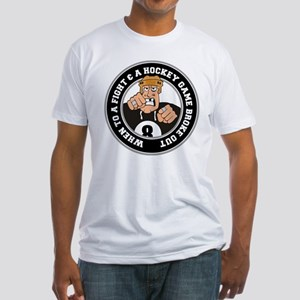 Funny Hockey Player Fitted T-Shirt