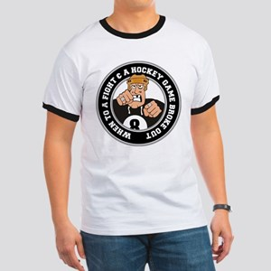 Funny Hockey Player Ringer T