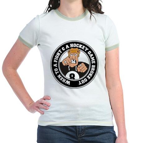 Funny Hockey Player Jr. Ringer T-Shirt