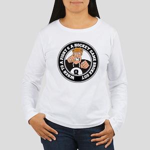 Funny Hockey Player Women's Long Sleeve T-Shirt