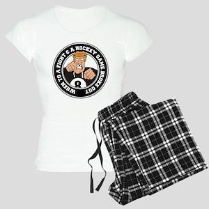 Funny Hockey Player Women's Light Pajamas
