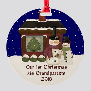 1St Christmas As Grandparents 2018 Ornament