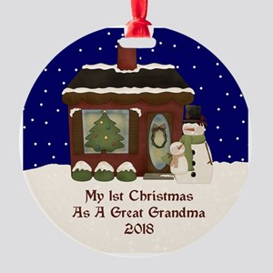 1St Christmas As A Great Grandma 2018 Ornament